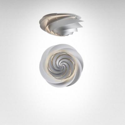 Swirl Ceiling/ Wall Lamp | Silver