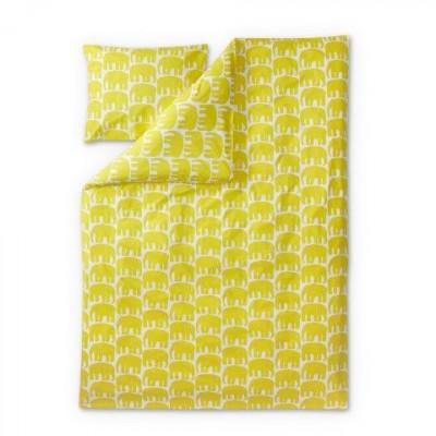 Duvet Cover Set Elefantti | Yellow