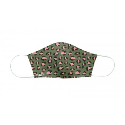 Gesichtsmaske | Green & Pink Cheetah