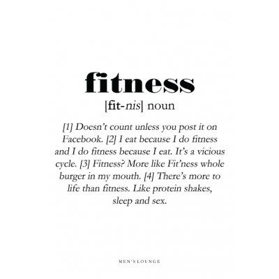 Poster Definition   Fitness