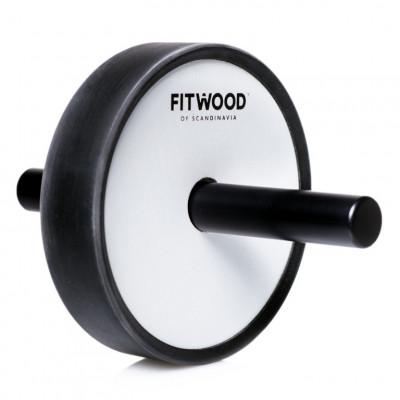 Kjerag Fitness-Roller | Schwarzes Aluminium & weißes Holz