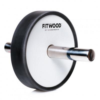 Kjerag Fitness-Roller | Weißes Holz, Edelstahl & Schwarze Ausführung