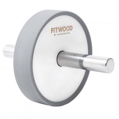 Kjerag Fitness-Roller | Weißes Holz, Edelstahl & Graue Oberflächez