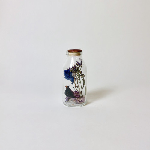 Flask with Dried Flowers | Harapan Brass