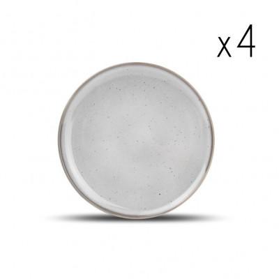 4er-Set Teller Freckles 19,5 cm | Grau
