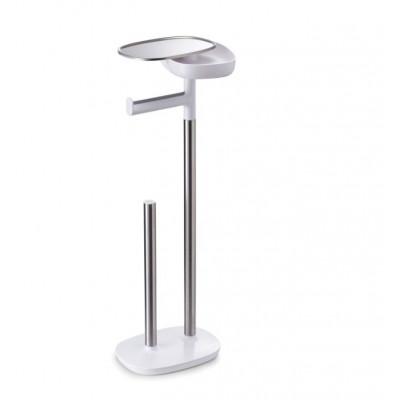 Toilettenpapierhalter mit kleinem Stauraum | Weiß