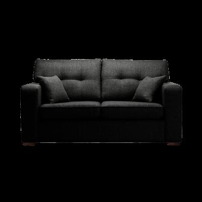 2-Sitzer-Sofa Melvin | Faltbar | Schwarz