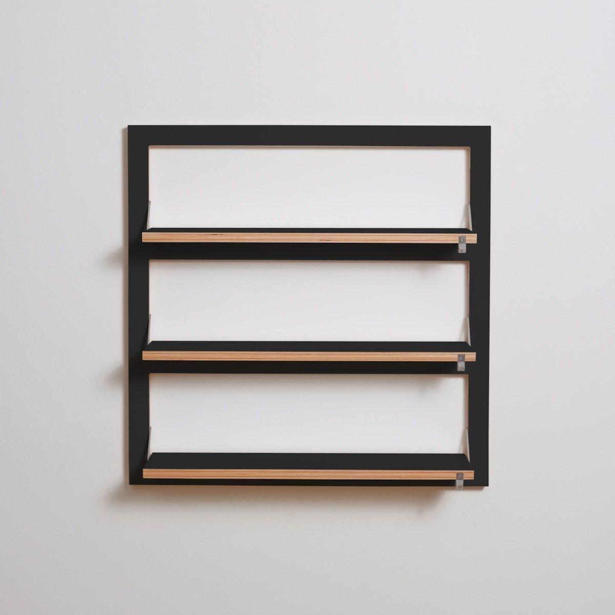 Shelf Fläpps Triple 80 x 80 cm | Black