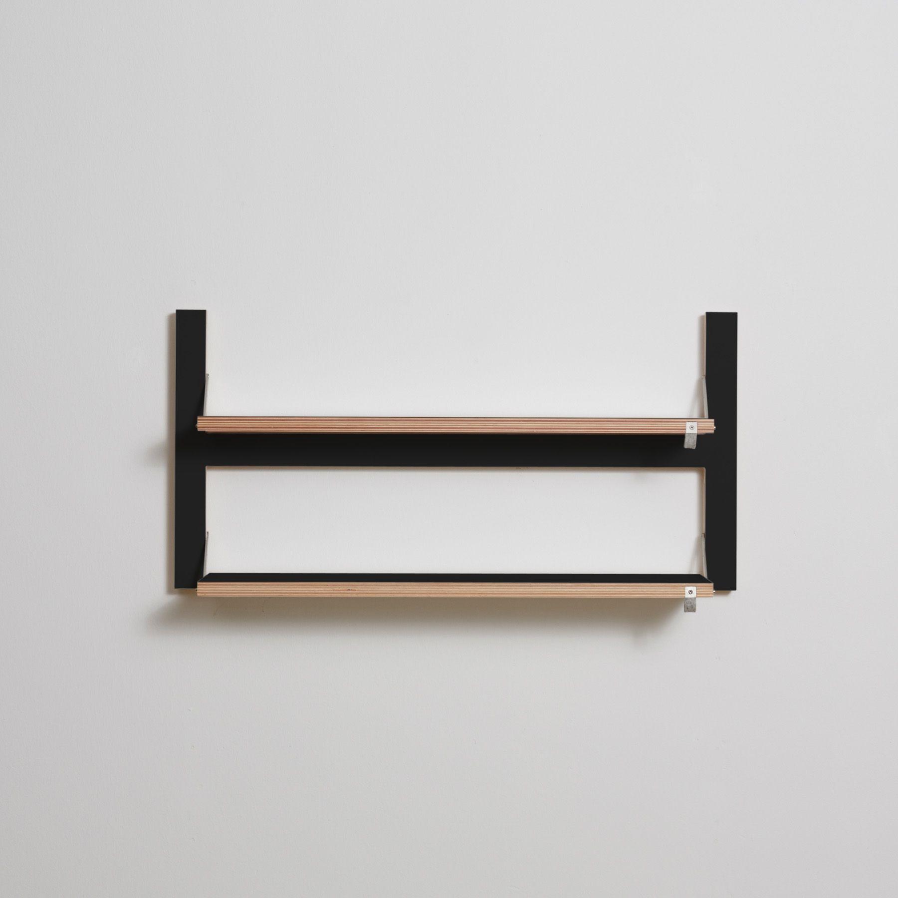 Shelf Fläpps Double 80 x 40 cm | Black