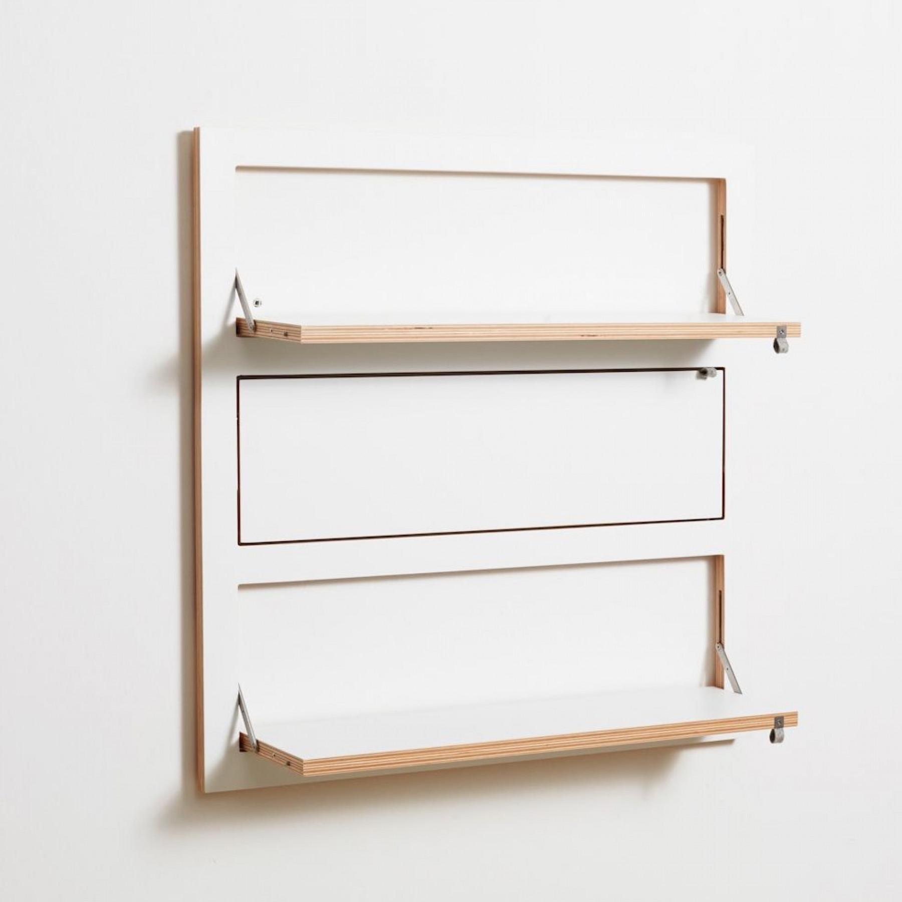 Shelf Fläpps Triple 80 x 80 cm | White