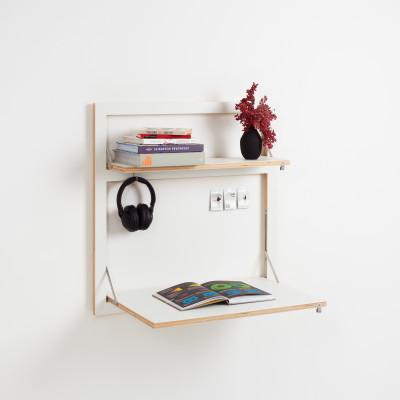 Wall Desk Fläpps 80x80-2 | White