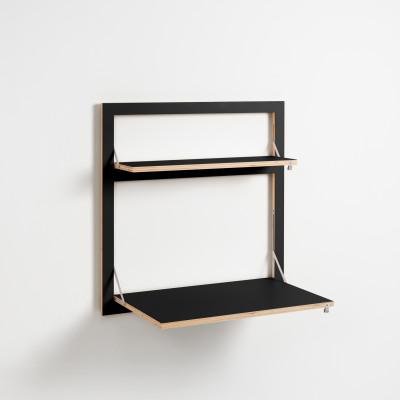 Wall Desk Fläpps 80x80-2 | Black