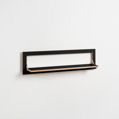 Regal Fläpps 100 x 27 cm | Schwarz