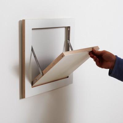Regal Fläpps 40 x 40 cm | Weiß