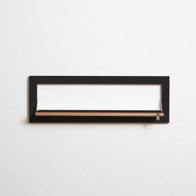 Regal Fläpps 80 x 27 cm | Schwarz