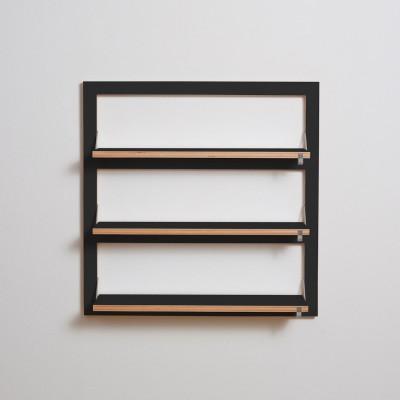 Regal Fläpps Triple 80 x 80 cm | Schwarz