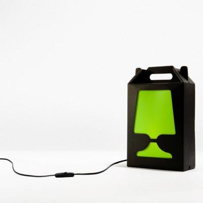 Black Flamp Lamp Green