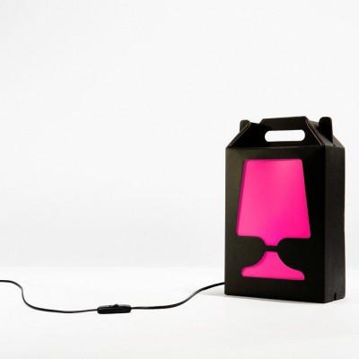 Black Flamp Lamp Magenta