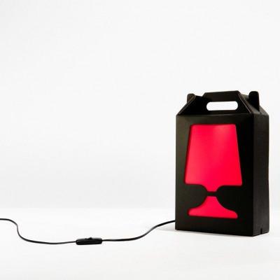 Black Flamp Lamp Red