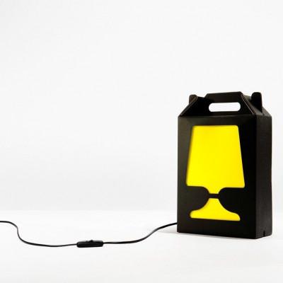 Black Flamp Lamp Yellow