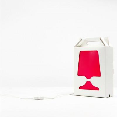 White Flamp Lamp Red Light