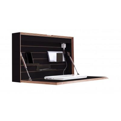Wandschreibtisch Flatbox | Schwarz