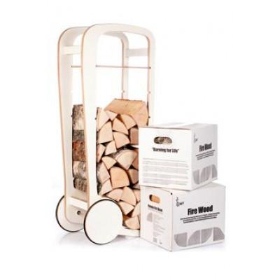 Holz-Trolley-Geschenkpaket | Weiß