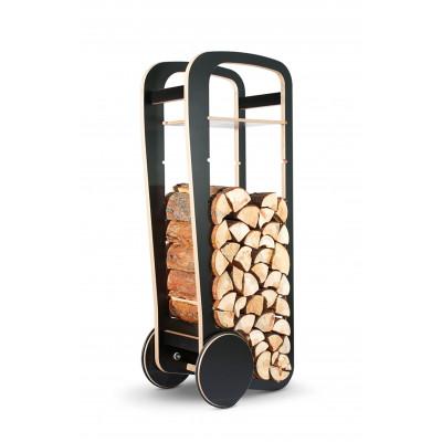 Holz-Trolley | Schwarz