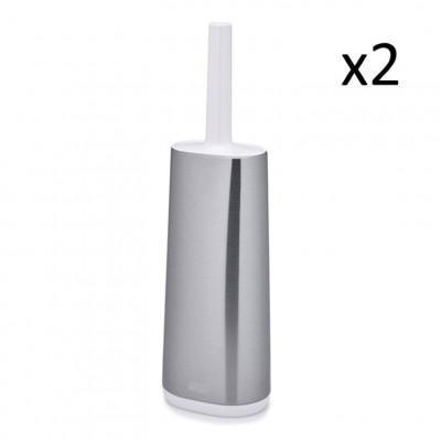 Toilettenbürste mit Halter Flex Stahl | 2 Stück