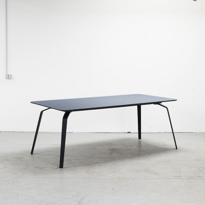 Tisch Float | Blau Linoleum