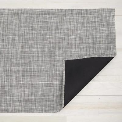 Teppich Ikat Geflochten 59 x 92 cm | Weiß Silber