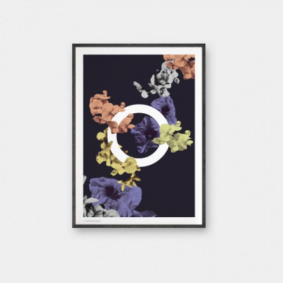 Floral O Poster