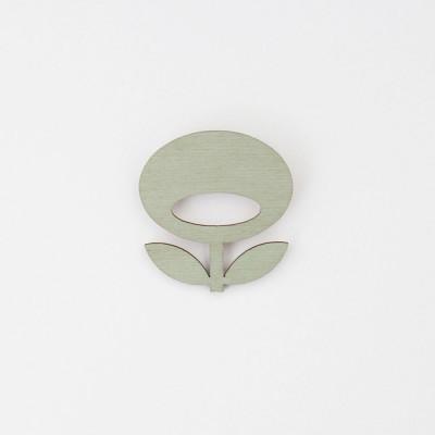 Snug. flower brooch   Mint