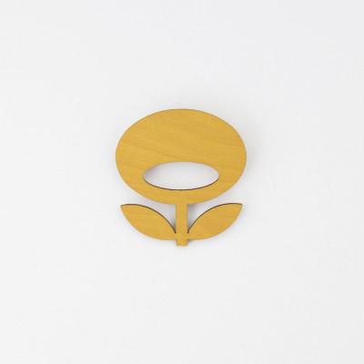 Snug. flower brooch   Mustard