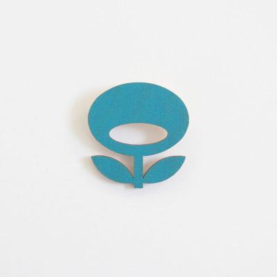 Snug. flower brooch   Teal