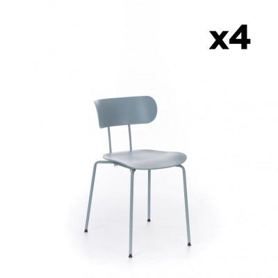 4er-Set Stühle Fly    Hellblau