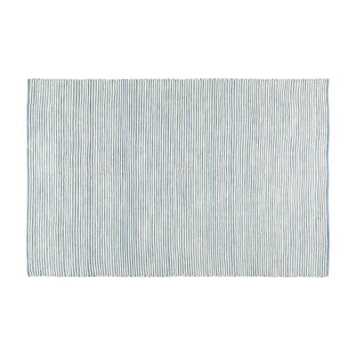 Teppich Flynn 230 x 160 cm   Blau & Creme