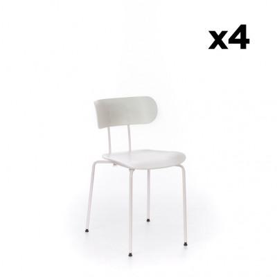 4er-Set Stühle Fly    Weiß
