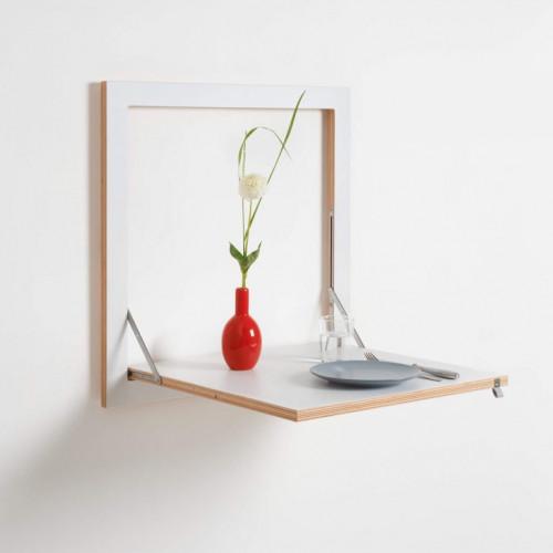Kitchen Table Fläpps 60 x 60 cm | White