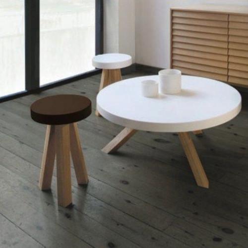 Flak Coffee Table White