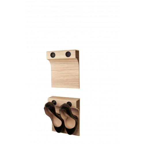 Shoe Rack Flash Up 20 Twin | Oak