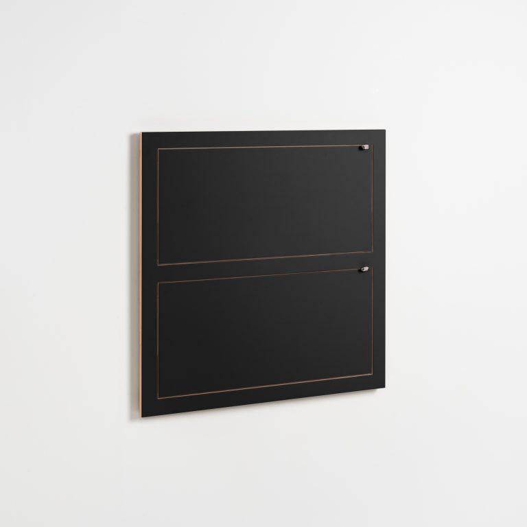 Regal Fläpps 80 x 80 cm Doppelte | Schwarz