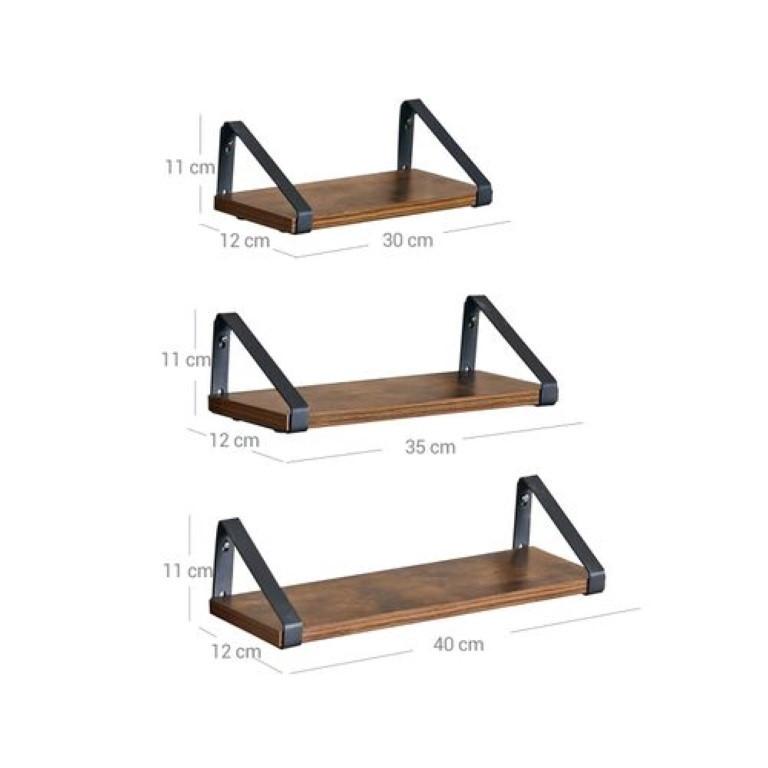 Industrial Wall Shelf | Set of 3