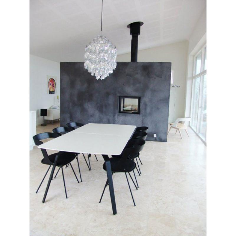 Table Float | Weißes Laminat-160
