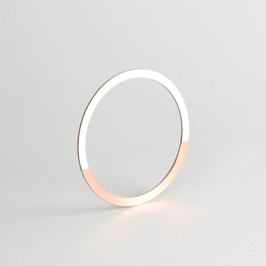 Circle Bangle   Copper & Grey