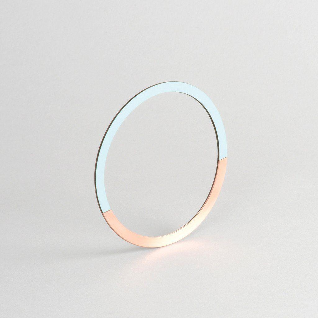Circle Bangle | Copper & Mint