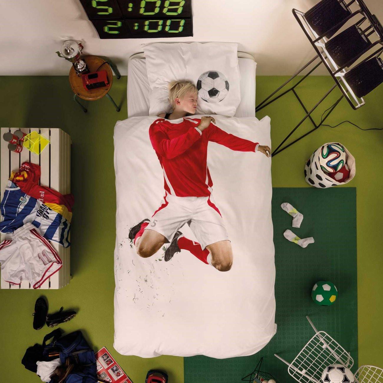 Soccer Champ Bettdecke | Rot-S
