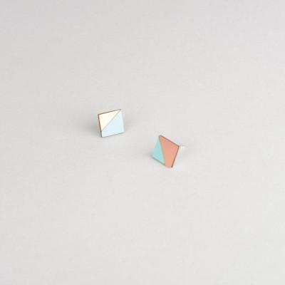 Square Earring | Copper & Mint