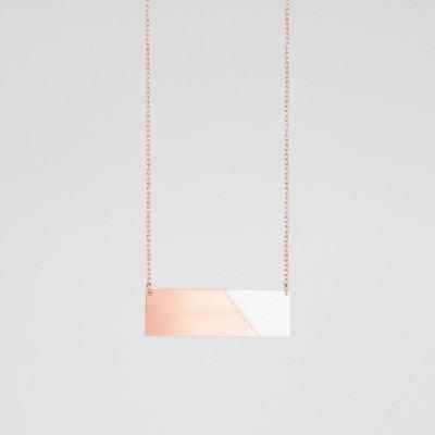 Bar-Halskette | Kupfer & Grau