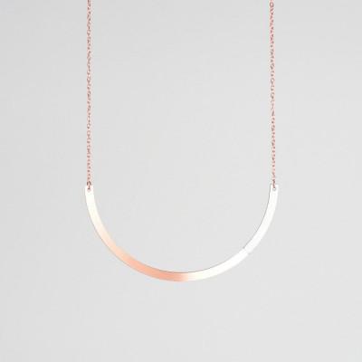 Circle Necklace | Copper & Grey